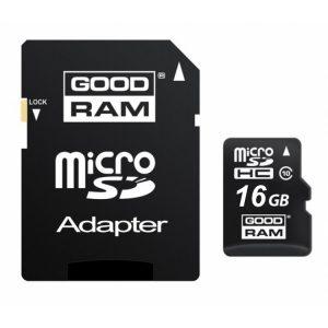 Κάρτα μνήμης MicroSD + Αντάπτορας CLASS10 16GB