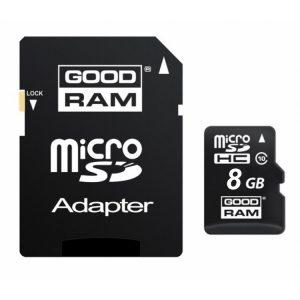 Κάρτα μνήμης MicroSD + Αντάπτορας CLASS10 8GB
