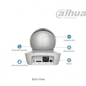 DAHUA – IPC-A26 Ρομποτική κάμερα, 2MP,με IR10m και ενσωματωμένο μικρόφωνο και ακουστικό.