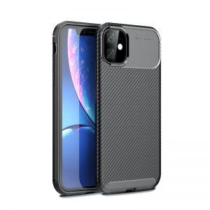 iPhone 11 Pro Max θήκη με υφή carbon Μαύρη AF11PMB