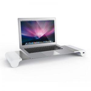 Έξυπνη Βάση Οθόνης / Λάπτοπ Αλουμινίου με 4 USB
