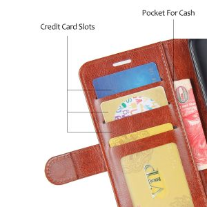 Θήκη Πορτοφόλι Καφέ για Huawei P20 Lite – Wallet Case wal3bbbrown