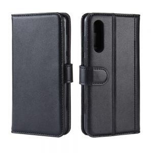Προστατευτική Θήκη Βιβλίο για Xiaomi Mi 9 με Δυνατότητα Σταντ και Υποδοχής Καρτών- Μαύρη