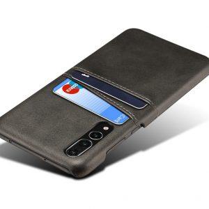 Θήκη Card Holder Leather Μαύρη για Huawei P20 Pro CARDhbw