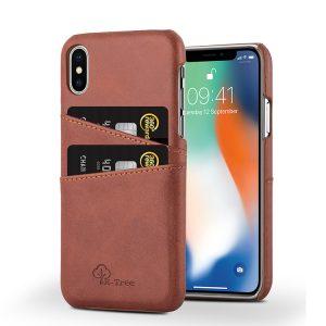 Δερμάτινη θήκη Card Holder Καφέ για iPhone X/Xs chbrown