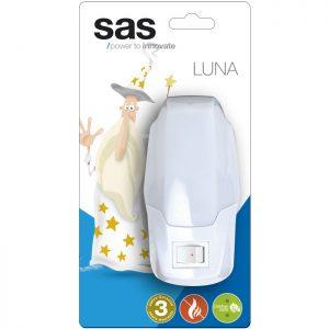 Φωτάκι νυκτός LED με διακόπτη, λευκό.