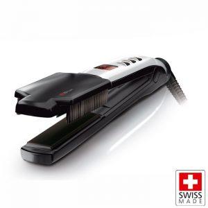 Επαγγελματική συσκευή ισιώματος μαλλιών 37W, με ρύθμιση και ένδειξη θερμοκρασίας. VALERA SWISS X SUPER BRUSH & SHINE 100.20/IS
