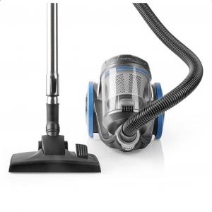 Ηλεκτρική σκούπα NEDIS VCBS550BU  χωρίς σακούλα, 700W, με πανίσχυρο μοτέρ, σε μπλε χρώμα.