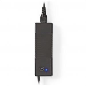 Universal τροφοδοτικό για laptop 150W, με τάση εξόδου 12V – 24V. NEDIS NBARU150WBK