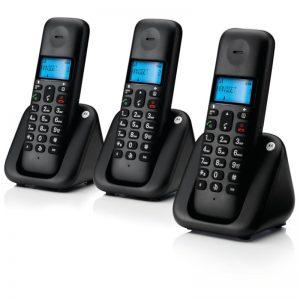 Τριπλό Ασύρματο Τηλέφωνο Με Ανοιχτή Ακρόαση Motorola T303 (Ελληνικό Μενού)