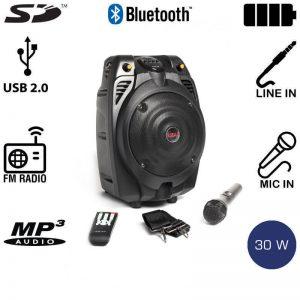 Φορητό Ηχείο Akai SS022A-X6  Bluetooth με Ενισχυτή, USB Και Κάρτα SD – 30 W RMS