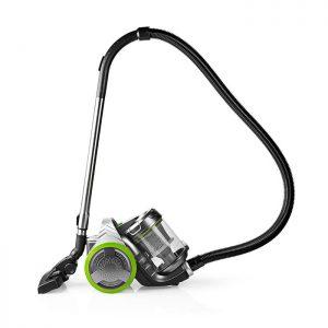 Ηλεκτρική σκούπα NEDIS VCBS500GN χωρίς σακούλα, 700W, με πανίσχυρο μοτέρ, σε πράσινο χρώμα.