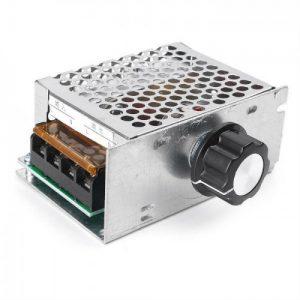 Ρυθμιστής στροφών μοτέρ SCR  220V AC 4000W σε μεταλλικό κουτί.