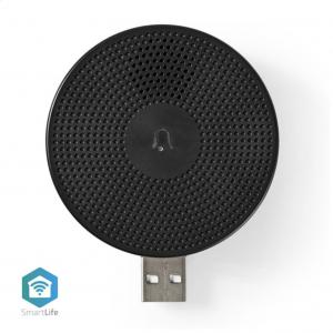 Ασύρματο εσωτερικό κουδούνι USB. NEDIS WIFICDPC10BK