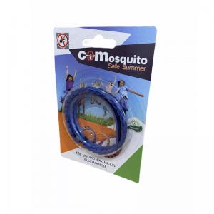Απωθητικό δερμάτινο βραχιόλι για κουνούπια και σκνίπες, Μπλε. COM 19.0001