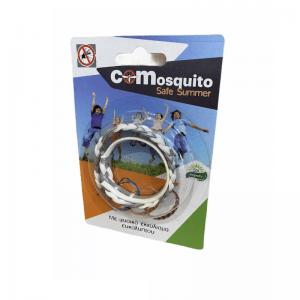 Απωθητικό δερμάτινο βραχιόλι για κουνούπια και σκνίπες, Ασπρο+Γκρι. COM 19.0001