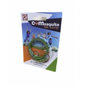 Απωθητικό δερμάτινο βραχιόλι για κουνούπια και σκνίπες, Πράσινο. COM 19.0001