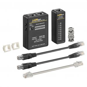 Tester καλωδίων δικτύου RJ11, RJ12, RJ45 και BNC.