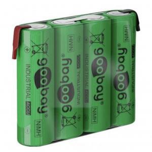 Επαναφορτιζόμενη μπαταρία 4.8V 2100mAh AA (Mignon) Ni-MH με λαμάκια.