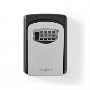 Κλειδοθήκη ασφαλείας με συνδυασμό 4 ψηφίων, σε γκρι χρώμα. NEDIS KEYCC01GY