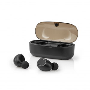 TWS Bluetooth ακουστικά handsfree με θήκη ασύρματης φόρτισης. NEDIS HPBT5052BK