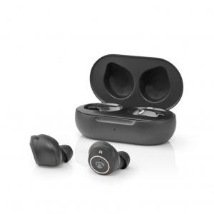 TWS Bluetooth ακουστικά handsfree με θήκη φόρτισης. NEDIS HPBT3050BK