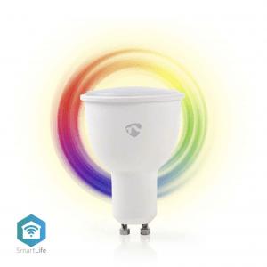 Wi-Fi έξυπνη λάμπα LED σε RGB και θερμό λευκό, GU10, 4,5W, 380lm NEDIS WIFILC10WTGU10
