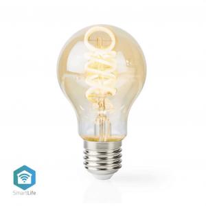Wi-Fi έξυπνη λάμπα Filament Retro LED, E27, A60, 5.5W, 350lm NEDIS WIFILT10GDA60