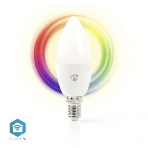 Wi-Fi έξυπνη λάμπα RGB LED, E14, 4,5W, 350lm NEDIS WIFILC10WTE14