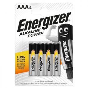 Αλκαλική μπαταρία Εnergizer ΑΑA-LR03 Alkaline Power, σε blister 4 τεμαχίων.