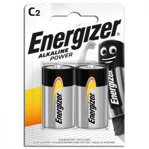 Αλκαλικές μπαταρίες Εnergizer C-LR14, σε blister 2 τεμαχίων.