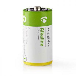 Αλκαλικές μπαταρίες LR14 C, 1.5V σε blister 2 μπαταριών NEDIS BAAKLR142BL