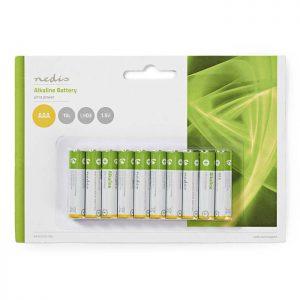 Αλκαλικές μπαταρίες NEDIS 1.5V AAA σε συσκευασία 10 μπαταριών