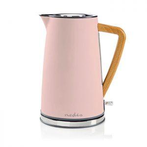 Βραστήρας NEDIS KAWK510EPK 1.7L, σε ροζ soft-touch χρώμα, 2200W.