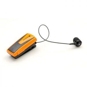 Ανασυρόμενα handsfree ακουστικά iXchange UA42QT-V με σύνδεση Bluetooth v5.0. Κίτρινο.
