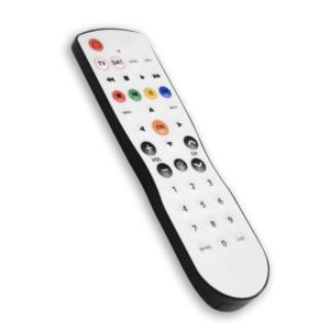 Universal τηλεχειριστήριο αντικατάστασης για τηλεοράσεις με ανάγλυφα πλήκτρα και λειτουργία εκμάθησης.