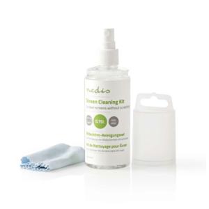 Κιτ καθαρισμού, 150 ml υγρό και πανάκι. NEDIS CLSN100TP