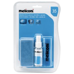 Υγρό καθαρισμού 35 ml + πανάκι με μικροΐνες + βούρτσα. MELICONI C-35P 35ml/CLOTH/BRUSH