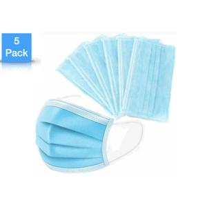 Προστατευτική μάσκα προσώπου μίας χρήσης 5 τεμάχια HPP-1
