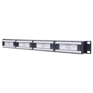 Patch panel κατηγορίας CAT 6 UTP, 24 θυρών σε μαύρο χρώμα. 93866