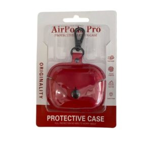 Airpods Pro Square leather Case Red