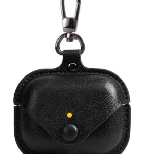 Airpods Pro Protective leather Case Black