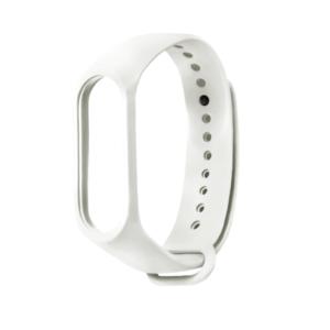 Λουράκι Σιλικόνης Λευκό  (Xiaomi Mi Band 3/4) Strap OEM