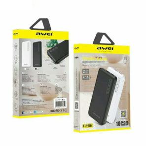 Φορητός Φορτιστής, Power Bank  Awei P28K 10000mAh Λευκό