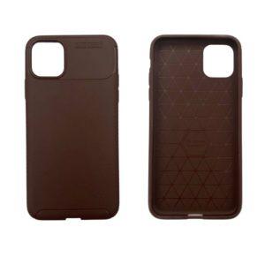 iPhone 11 Pro Max θήκη με υφή carbon Καφέ AF11PMK