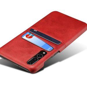 Θήκη Card Holder Leather Κόκκινη για Huawei P20 Pro CARDhrw