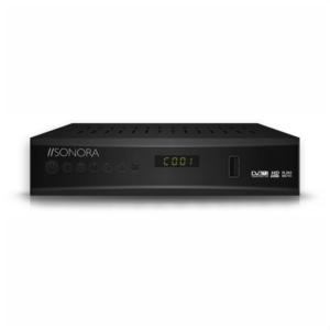 Επίγειος ψηφιακός δέκτης MPEG-4 / H.265 / Full HD, με τηλεχειριστήριο 2 σε1 για δέκτη και τηλεόραση. SONORA DVB T2-265 DR