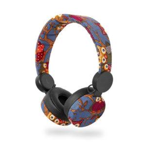 On-ear ενσύρματα ακουστικά NEDIS N-imal Owl Blue. NEDIS HPWD4101BK