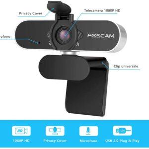 Webcam ανάλυσης 2MP (1920 x 1080), Plug & Play, με ενσωματωμένο μικρόφωνο FOSCAM W21
