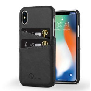 Δερμάτινη θήκη Card Holder Μαύρη για iPhone X/Xs chblack